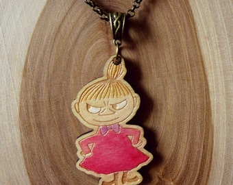 Wooden Moomin Necklace (Little My)