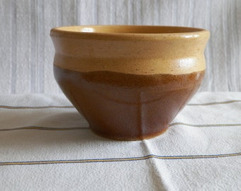Brown stoneware pot. Vintage French 1960