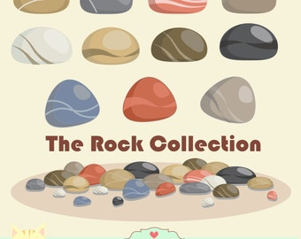 Rocks and stones clipart,digital illustration , web graphic , instant download