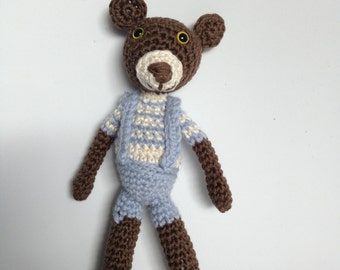 Snowman bear amigurumi for children and adults, 100% handmade.