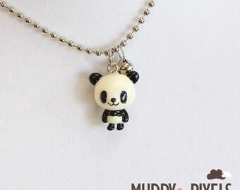 Kawaii Resin Panda Necklace! Standing