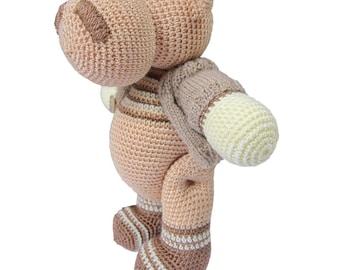 Hippo Caramel  Lovely knitted toys knit stuffed animals handmade stuffed hippo baby hand knitted toys crochet toys hippo gift hippopotamus