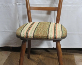 SALE-15%, wooden chair, rustic, rustic upholstery 1930
