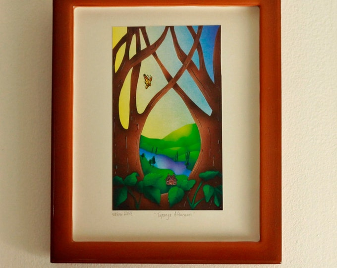 "FRAMED ART PRINT Custom Framed Art Print 8""x""10 Topanga Afternoon"