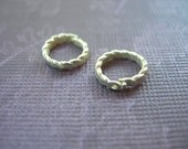 Snap Rings Silver Plated Twisted Locking Jump Rings 8mm lot of 2