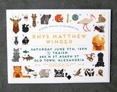 ABC Animals Baby Shower Invitation