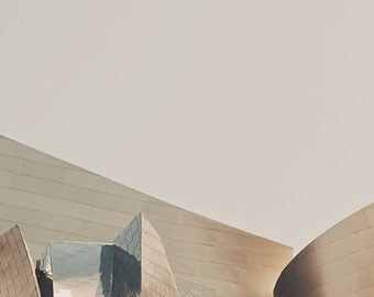 minimalist decor, Walt Disney Concert Hall photo, LA photography, Los Angeles, modern wall art, Gehry architecture, gray pale, music, silver