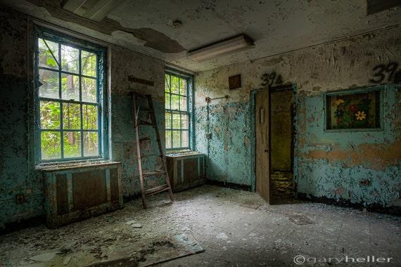 Abandoned Asylum Waiting Room Forgotten Places Signed