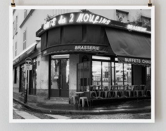 "Paris Print, Black and White Photography, ""Paris Noir 11"" Extra Large Wall Art, Fine Art Print Paris Photography, Film Noir"