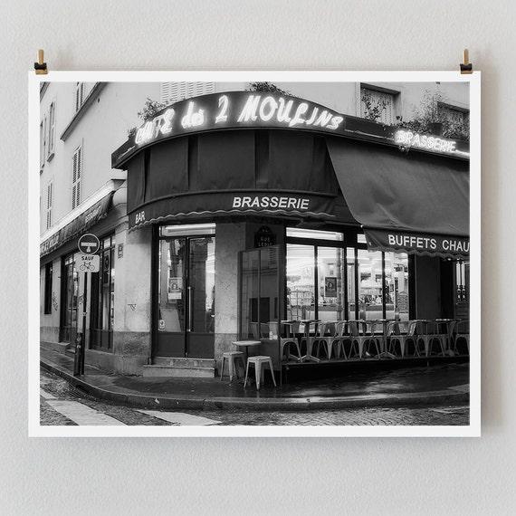 """Paris Print, Black and White Photography, """"Paris Noir 11"""" Extra Large Wall Art, Fine Art Print Paris Photography, Film Noir"""