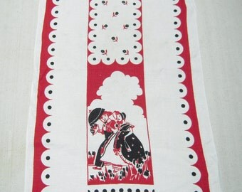 Vintage Towel Young Lovers Gone A Courtin'