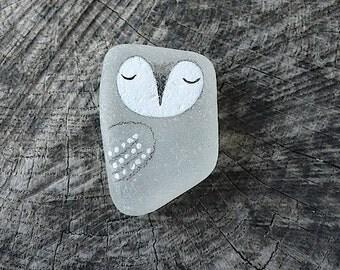Beach Glass Owl