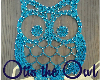 "String Art Pattern - Otis the Owl - 9.5"" x 7.5"""