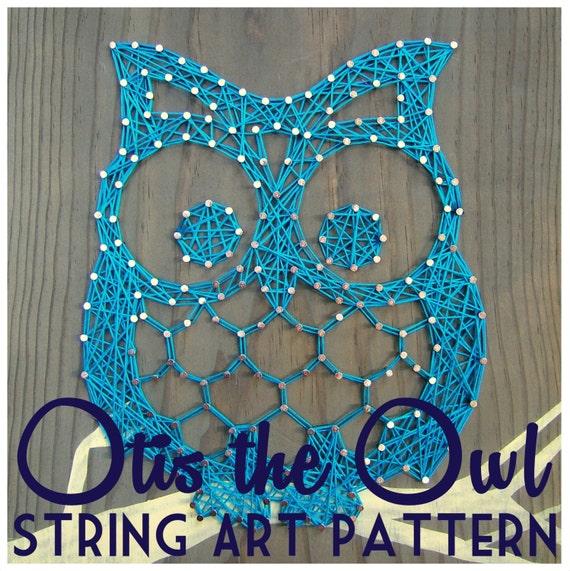 string art pattern otis the owl 9 5 x 7 5. Black Bedroom Furniture Sets. Home Design Ideas