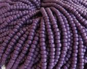 6/0 Opaque Dark Purple Czech Glass Seed Bead Strand (CW121)