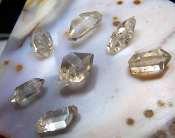 ONE Tibetan Diamond Quartz crystal - small crystal point - smoky or clear double terminated Quartz -  Herkimer Diamond - from Tibet gemmy