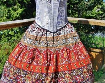 Corset dress boho fringe hippie chic festival set size s spring summer 32 a