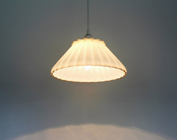 SEA SHELL Hanging Pendant Lamp Upcycled Lighting Fixture
