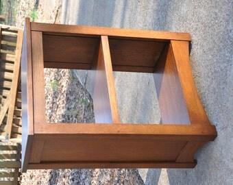 Oak Mission Style Bookcase Arts & Crafts Solid Wood Book Shelf Custom Quartersawn White Oak