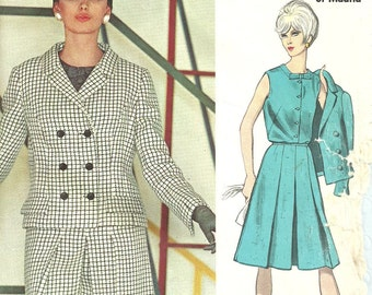 Vogue 1527 / Vintage Couturier Design Sewing Pattern By Rodriguez Of Madrid / Skirt Blouse Jacket Suit / Size 14 Bust 34