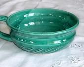 Emerald green Soup bowl, modern ceramic serving dish housewares, kitchen turquoise, White clay porcelain Chowder Mug, MADE TO ORDER