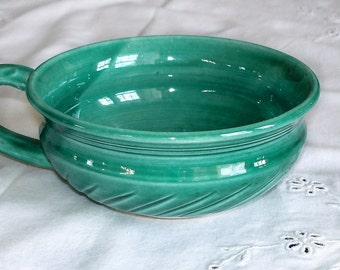 Emerald green Soup bowl, modern ceramic serving dish housewares, kitchen turquoise, White clay porcelain Chowder Mug, MADE TO ORDER