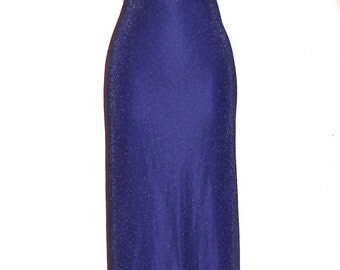 GIANNI VERSACE COUTURE Vintage Gown Purple Lurex Beaded Maxi Dress - Authentic -