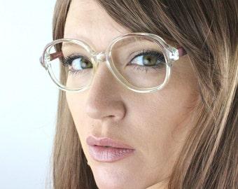 Vintage 80's Dusty Rose Rounded Eyeglass Frames