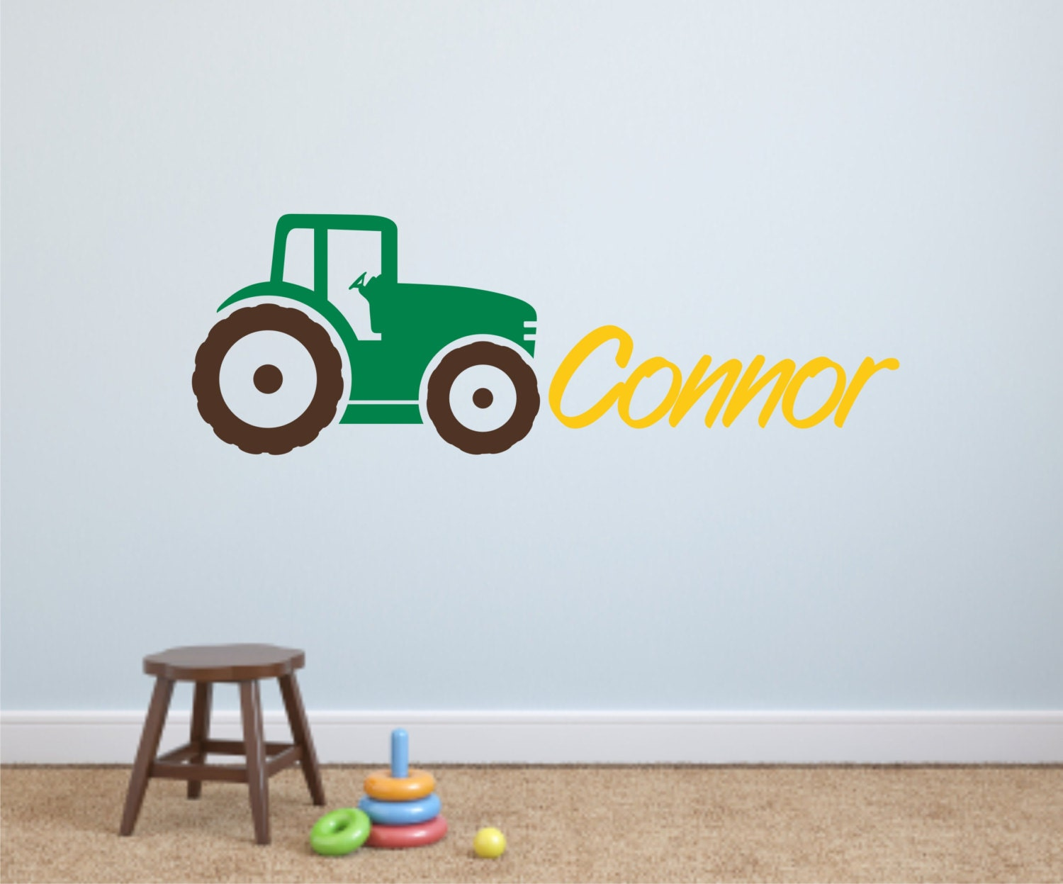 Tractor Wall Decals Kids Tractor Decal Nursery Wall