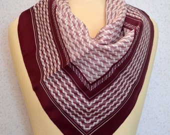 Purple, Lavender and Grey Ropes and Stripes Vintage Square Scarf