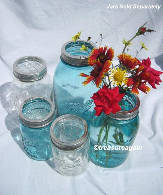 5 Mason Jar Flower Frog Lids Mason Jar Flower Arrangement Wedding Centerpiece, Ball Jar DIY Flowers Garden Flower Vases, No Jars