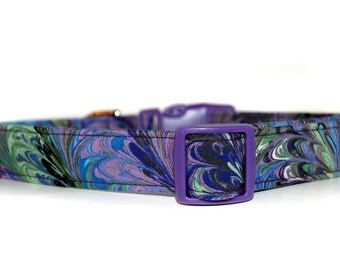 Monet,,,,,Purple Design Dog Collar