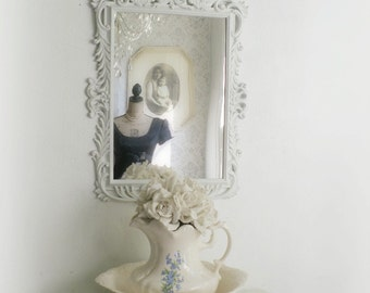 R O C O C O   White Mirror Ornate Shabby Chic French Cottage Nursery
