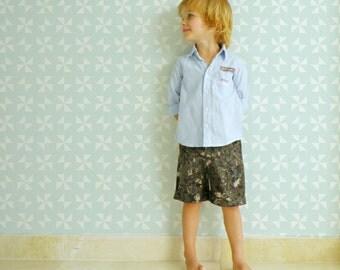 Military design Baby Boy Shorts, Boys Summer Outfit, Military Pixel design baby short pants