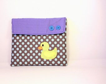 Ipad case: Ipad cover - Ipad sleeve -Padded case - Rubber ducky