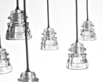 The Original Antique Insulator Pendant Light Vintage Industrial Pendant lights Handmade pendant lights Clear Industrial lighting pendants