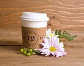 Custom Coffee Sleeves - wedding coffee bar - personalized - winter wedding