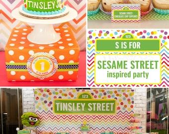 DIY printable birthday party package - sesame street inspired