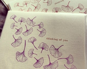 Card - Ginkgo Leaf (Set of 6)