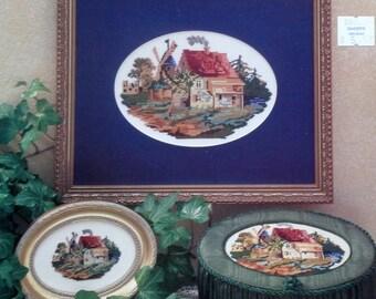 Jodi Merusi Vintage Designs KATRINA's COTTAGE - Counted Cross Stitch Pattern Chart