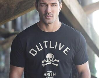 Men's Clothing - Black t-shirt for Men - Mens T-shirt -  Black tee - Mens Clothing - We Are All Smith- Tshirt for men made in the USA
