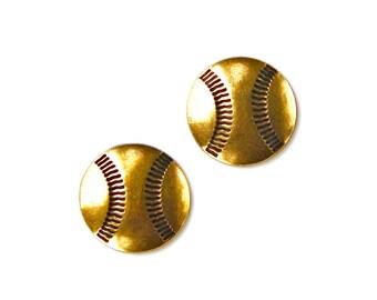 Baseball Cufflinks - Gifts for Men - Anniversary Gift - Handmade - Gift Box Included