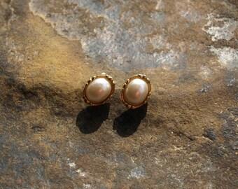 Vintage 1928 Pearl Earrings