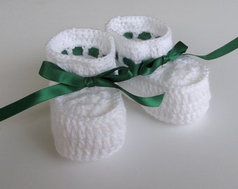 Baby Shoes for Christmas, Infant Booties White, 6 Month Baby Shoes
