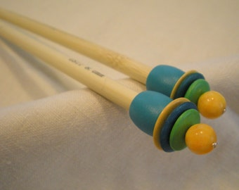 Wooden Knitting Needles - Size US 11