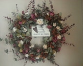 Wreath, Handmade Wreath, Love Is Pulling Together Against All Odds,  Eucalyptus Floral Wreath, Floral Wreath, Charming Wreath