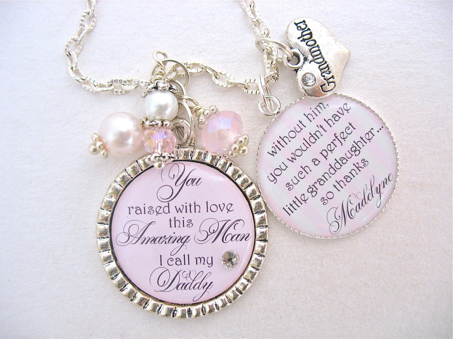 GRANDMOTHER GIFT from Granddaughter Personalized Jewelry