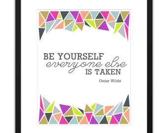 Printable Art - Be Yourself Archival Print 8x10