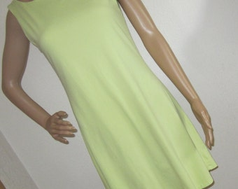 Dress or Swimsuit Cover-Up with Built in Thong Light Lime Green Vintage Dress size M