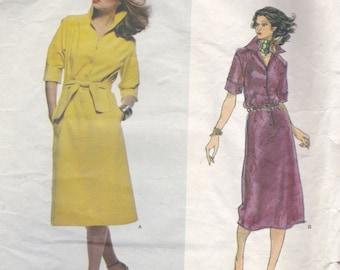 70s Button Front Dress Pattern Vogue Designer 1717 Size 14